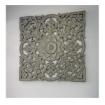 15SS10 Large Ornate Grey Square Wall Panel