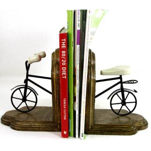 FA013-3 Vintage Style Bicycle Pair of Bookends