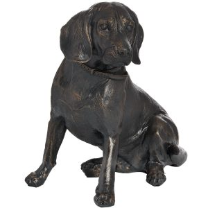 18422 Antique Bronze Sitting Spaniel Ornament
