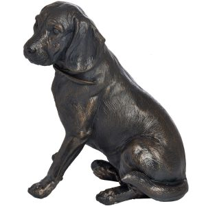 18422-a Antique Bronze Sitting Spaniel Ornament