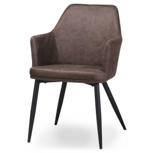 20042 Contemporary Grey Carver Dining Chair
