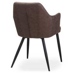 20042-a Contemporary Grey Carver Dining Chair