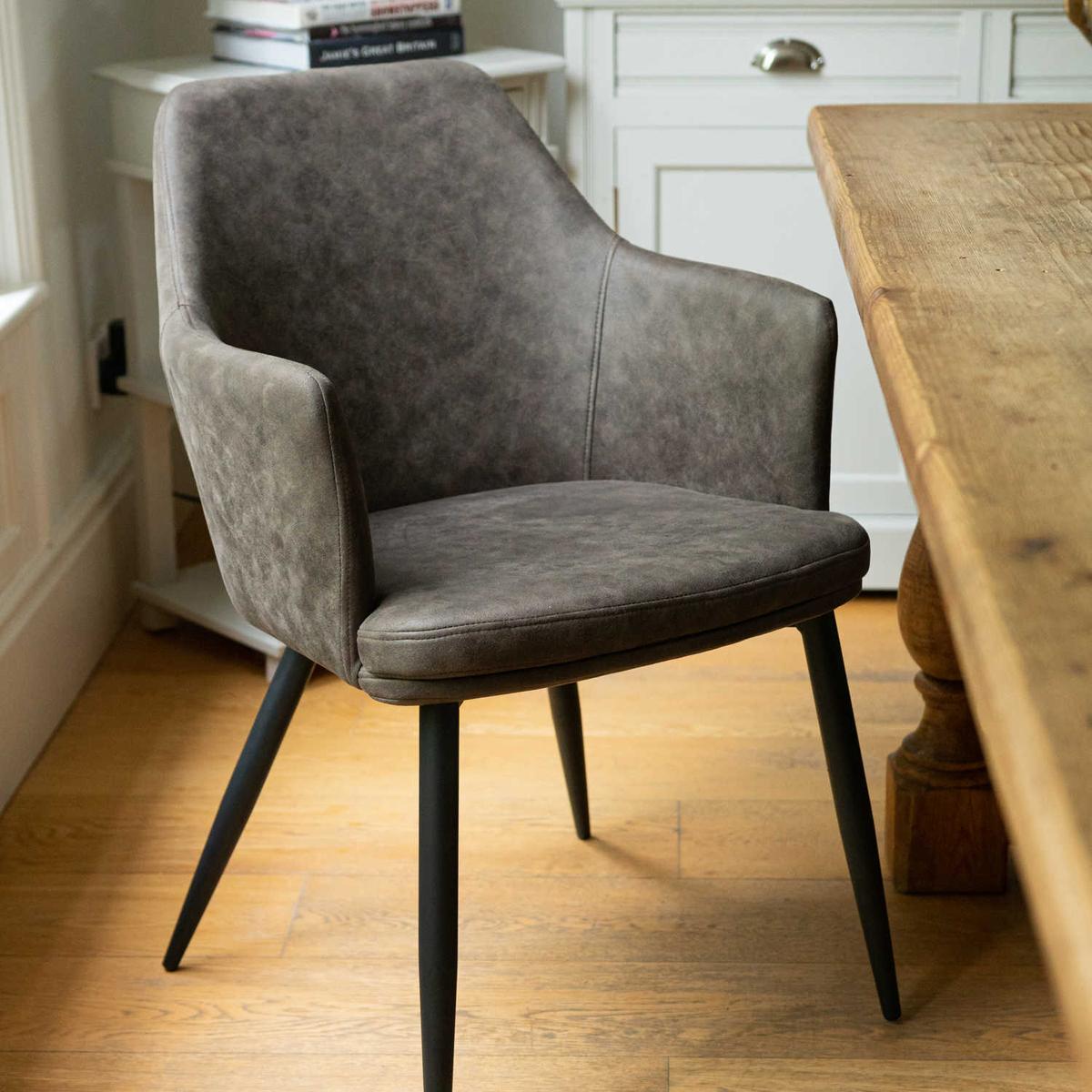 Contemporary Grey Carver Dining Chair Interior Flair