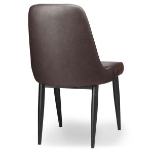 20044-a Sturdy Grey Leather Effect Dining Chair