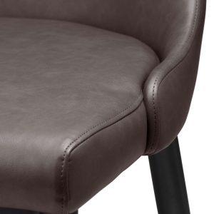 20044-b Sturdy Grey Leather Effect Dining Chair