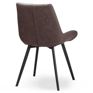 20046-a Contemporary Grey Dining Seat Chair