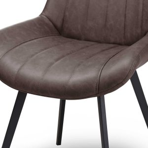 20046-b Contemporary Grey Dining Seat Chair