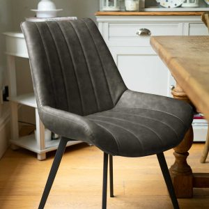 20046-c Contemporary Grey Dining Seat Chair
