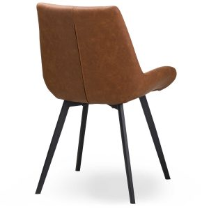 20047-a Contemporary Tan Brown Dining Chair