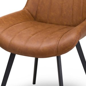 20047-b Contemporary Tan Brown Dining Chair