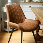 20047-c Contemporary Tan Brown Dining Chair