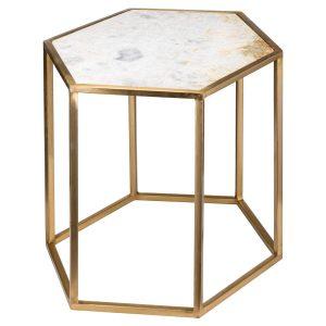 20372 Hexagonal Gold Metal Marble Sid