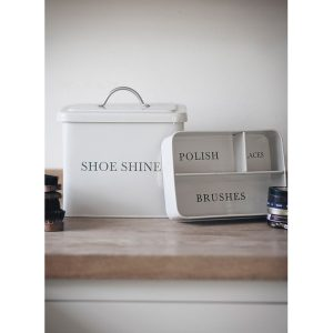 Country Chic Cream Shoe Shine Container
