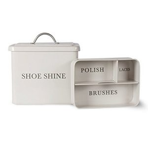 Country Chic Cream Shoe Shine Container a
