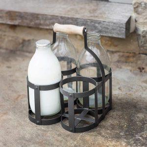 Dark Grey 4 Milk Bottle Holder Carrier 2