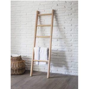 FUOA08 Solid Oak Leaning Display Rail Ladder 1