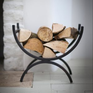 LOHO01_a Contemporary Wrought Iron Grey Log Holder