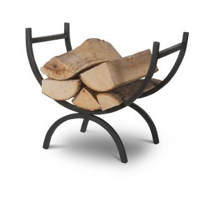 LOHO01_b Contemporary Wrought Iron Grey Log Holder