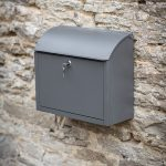 PBCO09_a Contemporary Style Grey Wall Post Box