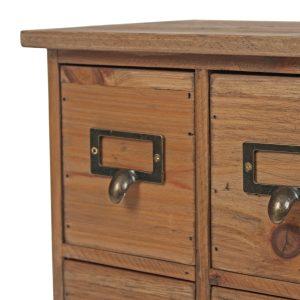 1678_1 Vintage Brown 8 Drawer Cabinet