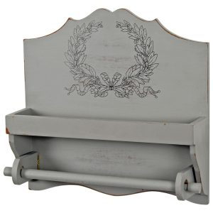 1928 French Country Grey Towel Rail
