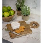 18SS65 Star Detail Wooden Chopping Board