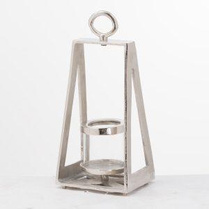 20715 Pyramid Silver Tea Light Holder