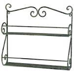 3055 Ornate Vintage Grey Black Wall Shelves
