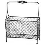3190 Decorative Wire Black Magazine Rack