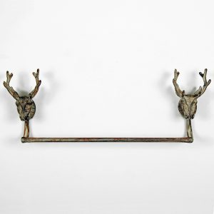 3882 Antique Grey Stag Towel Rail