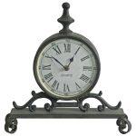 4849 Ornate Grey Mantel Clock