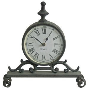 4849 Ornate Grey Mantel Clock