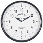 4850 Black White Paris Wall Clock