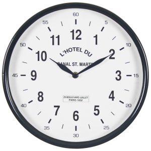 4850 Black White Paris Wall Clock