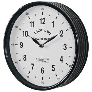 4850_1 Black White Paris Wall Clock