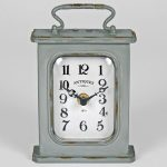 4878 Antique Grey Mantel Clock with Handle