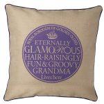 CTL021 Eternally Glamorous GRANDMA Purple Cushion