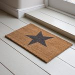 DMCO03_Large Grey Star Coir Doormat_1