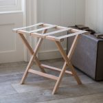 FLBE01_Wooden Beech Folding Luggage Rack
