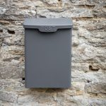 PBCO08_Charcoal Grey Steel Wall Post Box_1