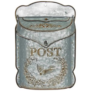 5067 Vintage Style Silver Grey Post Box