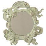 5402 Vintage Cream Angel Round Mirror