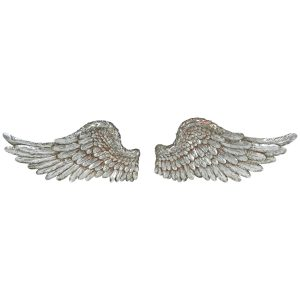 5596 Pair Large Silver Angel Wings Decoration