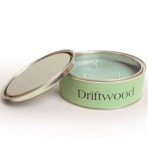 Driftwood Citrus Triple Wicks CANDLE Tin