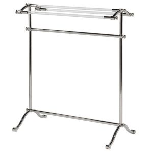 Free Standing Silver Towel Rail