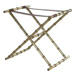 Gold Leather Brass Luggage Rack
