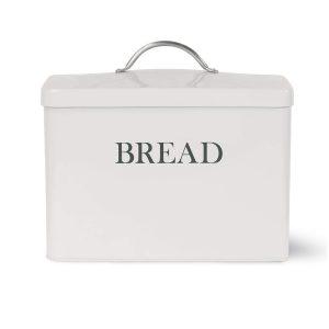 Vintage Style White Grey Bread Bin