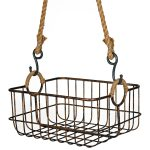 3718 Rope Hanging Metal Wire Basket