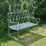 4137 French Antique Style Green Garden Bench