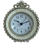 4821 Grey Jewel Edged Round Clock